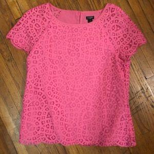 JCrew Pink Lace Top
